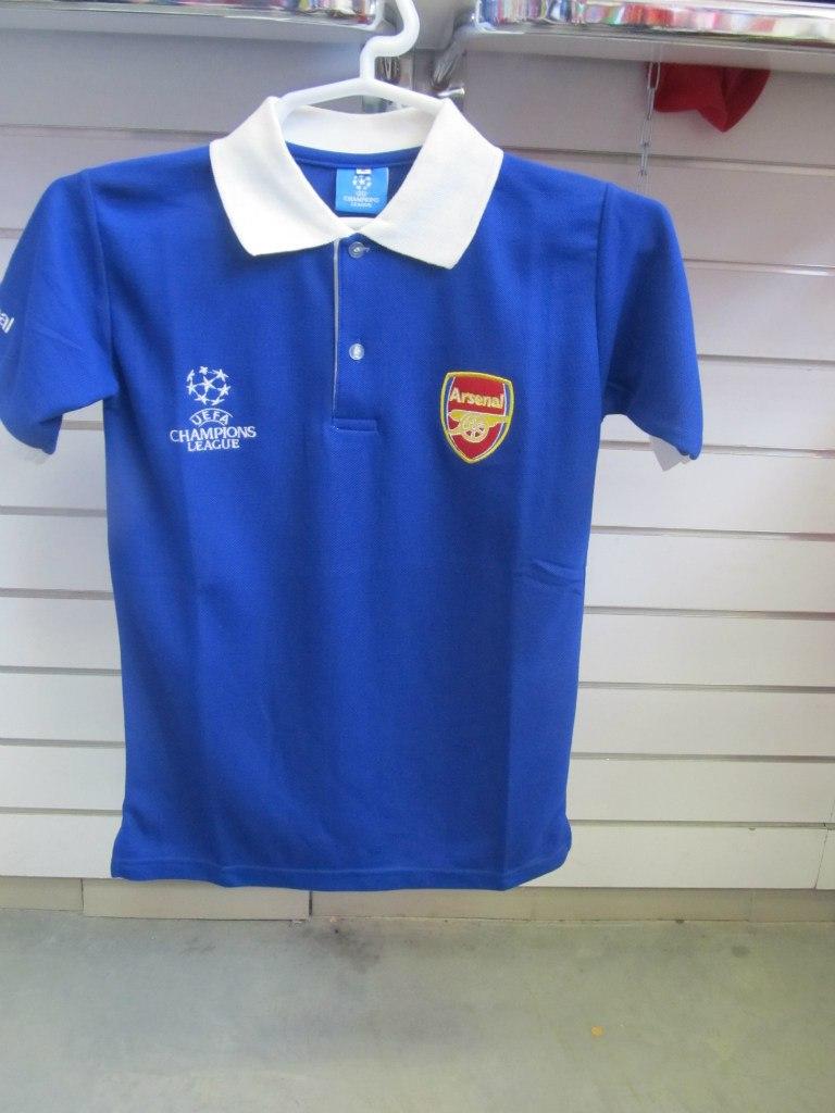 Поло футбольного клуба Арсенал, синее. Спортивная одежда и форма для спорта  в магазинах МИР ... 606ec7bb8e2